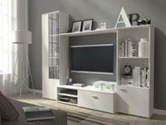 Obývací stěna BOURNE, matná bílá