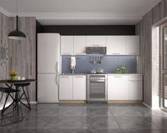 Kuchyně COLSON 180/240 cm, korpus: dub sonoma, dvířka: bílé