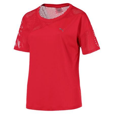 Puma A.C.E. športna kratka majica Mesh Blocked Tee Ribbon Red, XS, rdeča