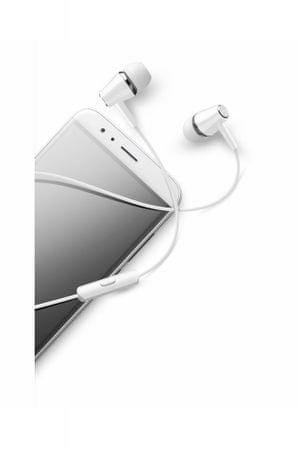 CellularLine Voice In Ear stereo ušesne slušalke z mikrofonom, bele