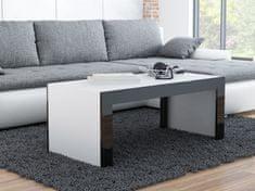 Konferenční stolek DEVIN, bílý mat/černý lesk