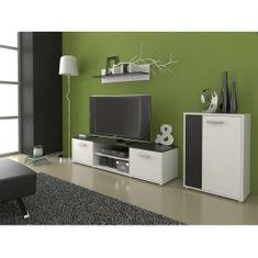 Obývací stěna LAWSON 3, černá/bílá