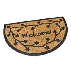FLOMAT Gumová kokosová vstupní rohož Welcome - Deco - 75 x 45 x 0,8 cm