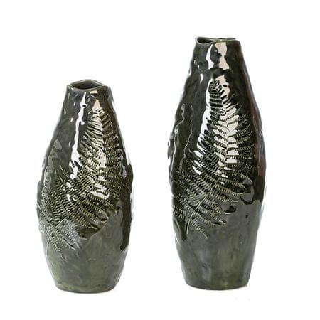 Papillon Váza keramická Papraď, 30 cm