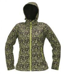 CRV Softshellová bunda Yowie Flower dámska hnedá/zelená XS