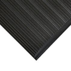 Černá protiskluzová protiúnavová průmyslová pěnová rohož 02 - 0,9 cm