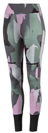 Puma ženske pajkice Chase Legging Aop Iron Gate, sive, S