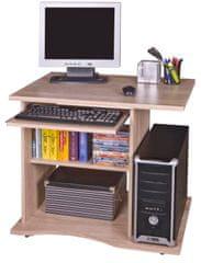 Praktický PC stůl s výsuvnou deskou LYLE, dub sonoma
