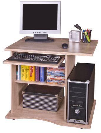 Praktický PC stůl s výsuvnou deskou OLLIN, dub sonoma