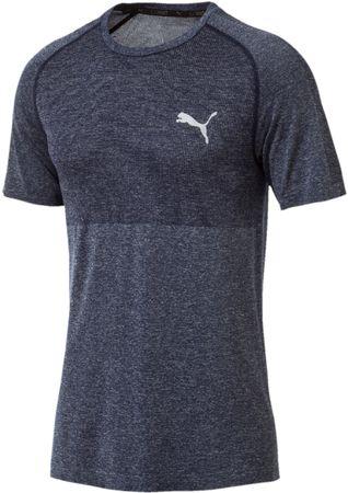 Puma muška majica kratkih rukava Evoknit Basic Tee Peacoat, siva, M