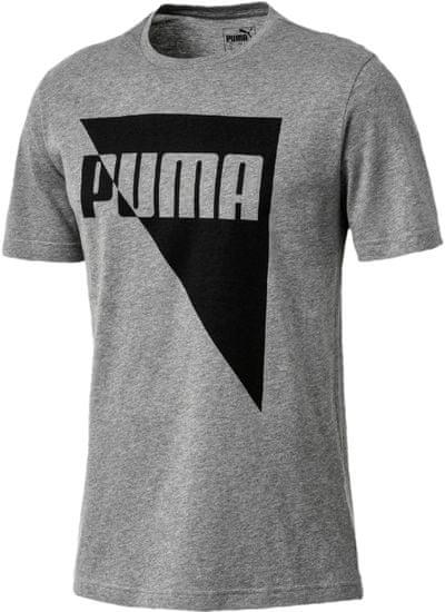 Puma Brand Graphic Medium Gray Heather 3XL