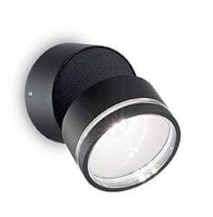 Ideal Lux zunanja LED svetilka Omega Round AP1 nero 165387, črna