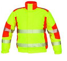 Cerva Zimná reflexná bunda Trila s membránou žltá/oranžová S