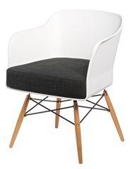 Mørtens Furniture Křeslo s područkami Livet, bílá/antracitová