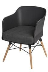 Mørtens Furniture Křeslo s područkami Livet, černá/antracitová