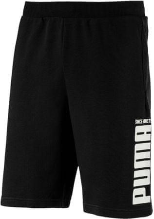 Puma moške kratke hlače Rebel Bold Shorts Cotton Black, črne, L