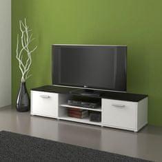 Televizní stolek LAWSON 01, černá/bílá