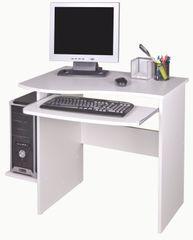 PC stůl s výsuvnou deskou ELIJAH, bílá