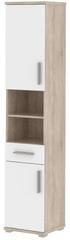 KARSON, skříňka vysoká 05, dub sonoma/bílý lesk
