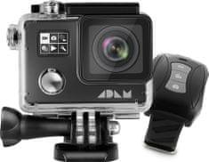 MAX ADAM A1 4K Black akční kamera se dvěma displeji + dálkové ovládání