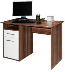 Kancelářský psací stůl BAYLOR, švestka/bílá