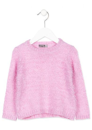 Losan dívčí svetr 104 světle růžová