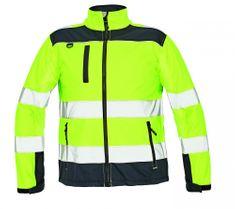Cerva Reflexná softshellová bunda Ryton pánska žltá M