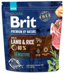 Brit hrana za pse Premium by Nature Sensitive, jagnjetina, 1 kg