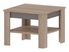 NEVIS A, konferenční stolek, dub sonoma/grafit