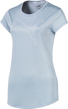 Puma ženska majica s kratkimi rokavi Active Logo Heather Tee Cerulean Heather, svetlo modra, S