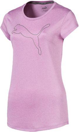 Puma ženska majica s kratkimi rokavi Active Logo Heather Tee Orchid Heather, roza, L