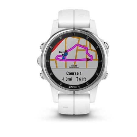 Garmin Smartwatch Fénix 5S Plus Sapphire, White, White band