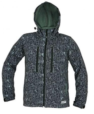CRV LUTTON softshellová bunda černá 3XL