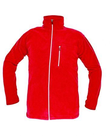 CRV KARELA fleecová bunda červená XS