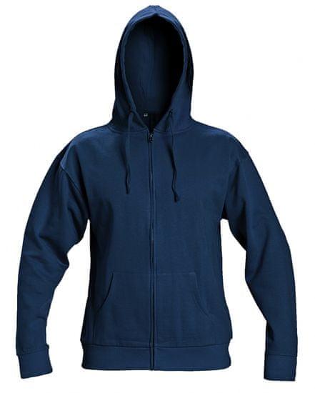 Cerva NAGAR mikina s kapucí modrá/tmavě modrá XXL