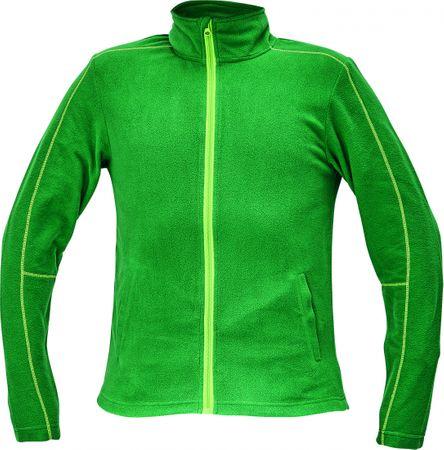 Červa WESTOW fleecová bunda zelená XXL