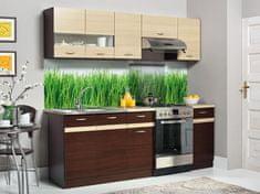 Kuchyně BELISA 160/220 cm, dub wenge/rijeka světlá