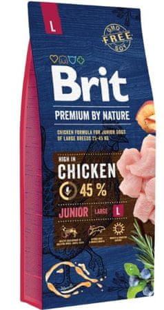 Brit hrana za pasje mladiče Premium by Nature Junior L, 3 kg