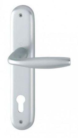 Hoppe aluminijasta kljuka za notranja vrata New York F1 za cilinder