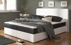 Postel s matrací CHEADLE 180x200cm ( PUR - bílá/černá )