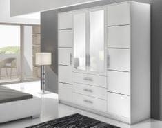 MALI 4D šatní skříň, bílá