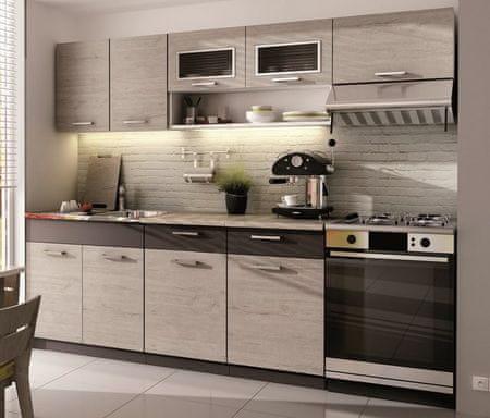 Kuchyně MOOREA II 180/240 cm, dub picard