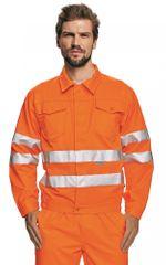 Cerva Reflexná pracovná bunda Koros pánska oranžová 60