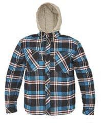 CRV Flanelová košeľa s kapucňou Lucan modrá M