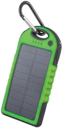 Forever powerbank solarny PB-016 TFO 5000 mAh, zielony BAEPOWER5000SOGR