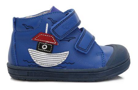 Ponte 20 Fiú bőrcipő hajóval 22 kék