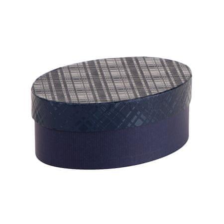 Giftisimo Dárková krabice Barbora 4, tmavě modrá kára - 20,5x14,3x7,2 cm