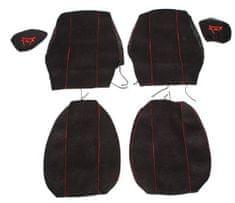 F-CORE Poťahy na sedadlá CS12 RD, čierne