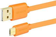 AXAGON BUMM-AM05QO, 0.5 m, oranžový BUMM-AM05QO