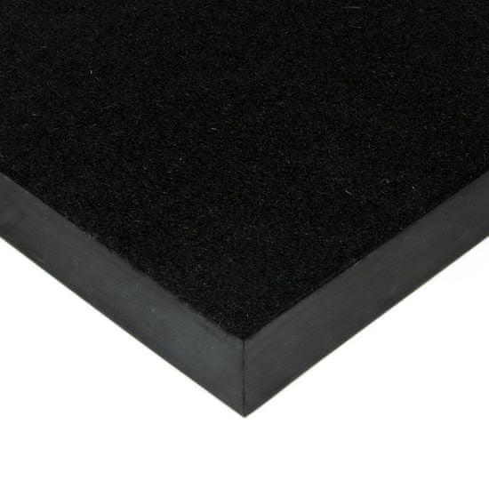 FLOMA Černá kokosová zátěžová vstupní čistící rohož Synthetic Coco - 60 x 80 x 1 cm